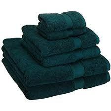 Set of 6 Egyptian cotton towels in teal. Includes 2 bath towels, 2 hand towels, and 2 face towels. Bathroom Towels, Bath Towels, Bathroom Rugs, Bathroom Faucets, Best Bathroom Scale, Small Bathroom, Master Bathroom, Boho Bathroom, Washroom