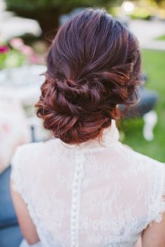 beautiful twisted wedding hair updo style