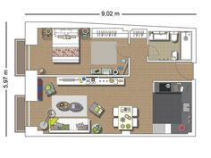 Un piso con mezcla de estilos