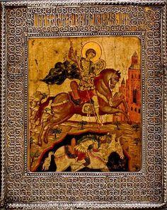 Saint Demetrius Dmitri Solunski. Russian Icons, Russian Orthodox, Saints, Painting, Art, Art Background, Painting Art, Kunst, Paintings