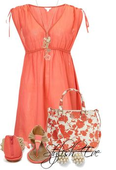 Cool Summer Outfit. Like the color but think the style would make me look pregnant. Looks like a breezy lightweight fabric!