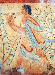 7.Aunque apenas se conservan obras de pinturas murales en la antigua Grecia, consta que los griegos pintaron cuadros y murales excelentes cuyas copias pueden ser algunas de las decoraciones de las grandes ánforas de lujo. Emplearon los procedimientos al fresco, al encausto, al temple y quizás al óleo. Los asuntos representados en tales pinturas, a juzgas por lo que se observa en las mencionadas vasijas, fueron escenas de la vida humana y tradiciones o leyendas mitológicas y heroicas.