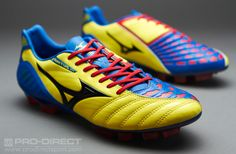 Mizuno Football Boots - Mizuno Wave Ignitus 3 MD - Firm Ground - Soccer Cleats - Bolt-Black-Victoria Blue-Chinese Red
