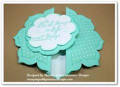 Gate Fold Card made with floral frames framelits
