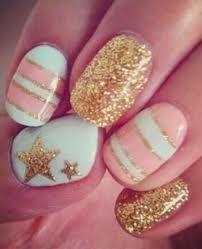 Diseño de uñas pastel
