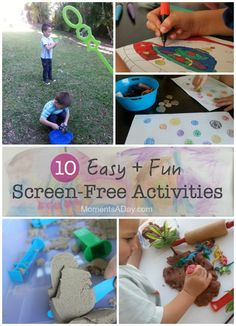 Easy and fun after-school screen-free activities for young kids