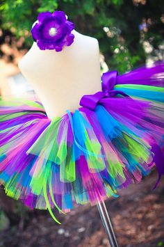 Rockstar Birthday Tutu for newborn baby infant toddler girls - includes Sewn Tutu and matching headband