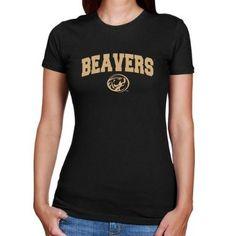 NCAA Bemidji State Beavers Ladies Black Logo Arch Classic Fit T-shirt  $19.95