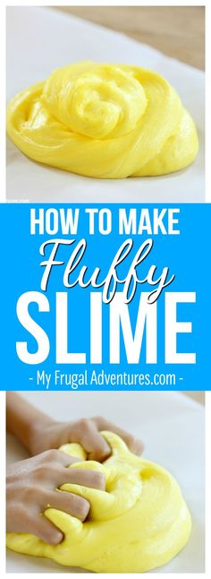 Simple 4 ingredient recipe for fluffy slime (no borax)