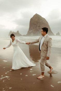 Layered Wedding Dresses, Chiffon Wedding Gowns, Bridal Dresses, Jamaica Wedding, Elope Wedding, Wedding Pics, Simple White Dress, Simple Dresses, Nude Gown