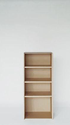 Diy Cardboard Furniture, Cardboard Design, Cardboard Crafts, My Furniture, Recycled Furniture, Wooden Crafts, Craft Storage, Modular Storage, Karton Design
