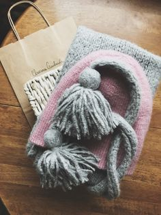 Knit scarf and hat