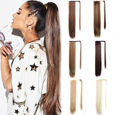 Long Straight Ponytail Extensions Drawstring Pony Tail Clip In Fake Hair Tail Synthetic False Hair Pieces For Women Msglamor Ponytail Styles, Ponytail Hairstyles, Human Hair Ponytail Extensions, Prom Pony Tail, Straight Ponytail, Synthetic Hair, Hair Pieces, Lace Wigs, Medium Hair Styles