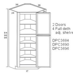 corner pantry dimensions and kitchen layouts - Google Search ...