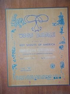 Boy Scout Collectible Wood Badge Plaque by WanderingSaint on Etsy, $12.50