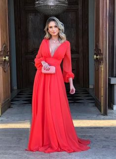 Deep V Neck Long Prom Dresses , - Renee Marino Prom Dresses Bridesmaid Dresses, Prom Dresses, Formal Dresses, Mermaid Skirt, Different Fabrics, Dress For You, Ideias Fashion, Gowns, How To Wear