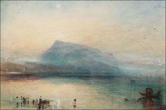 John Mallord William Turner (1775-1851) Le Rigi bleu, lac de Lucerne à l'aube Aquarelle et gouache - 29,7 x 45 cm Londres, Tate Gallery