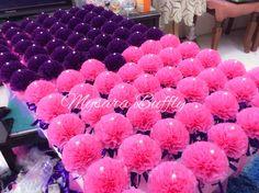 Bunga telur tisu with pearl  Theme : dark purple + pink