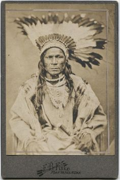 Native American, early 1800s cabinet card