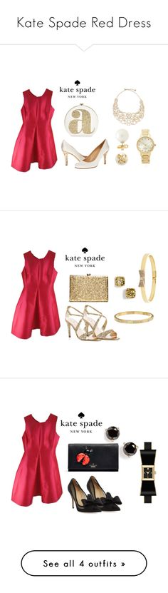 Kate Spade Red Dress by folioboutique on Polyvore featuring Kate Spade