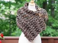 Hand+Knit+Original+Oversized+Boston+Harbor+Scarf+Collar+in