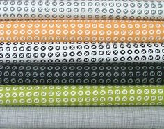 Fat Quarter Bundle of 6 prints from the Reel Time Collection by Brigitte Heitland of Zen Chic for Moda