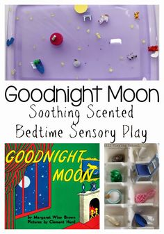 Soothing Lavendar Scented Goodnight Moon Inspired Sensory Play from Still Playing School