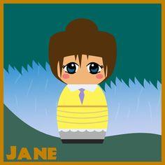 Jane [as a doll] (Drawing by Hallatt Cinderella Doll, Disney Princess Dolls, Disney Dolls, Disney Jane, Disney Marvel, Disney Magic, Disney Movie Characters, Alternative Disney Princesses, Princesses