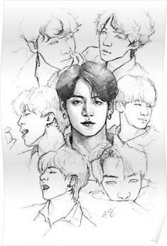 Pin By Asail Asailal On Kooooooke In 2021 Art Sketches Bts Drawings Kpop Drawings