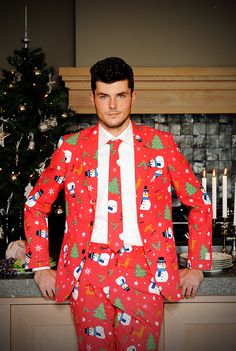 PSA: Ugly Christmas Sweater Suits Are the New Tacky Sweater via Brit + Co.