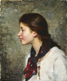 Maria Wiik studied art at the Drawing School of Helsinki. In she continued her art studies in Paris under Tony Robert-Fleury at the Académie Julian from 1875 and in 1880 she became a teacher at the Drawing School of Helsinki. Helene Schjerfbeck, Portraits, Portrait Art, Scandinavian Paintings, Finnish Women, Female Painters, Prinz Eugen, Drawing School, Anna