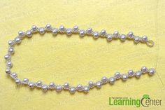 Make the beading chain for the pearl necklace with ribbon tie
