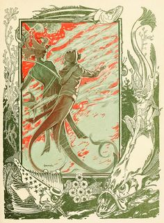 """These are the colour plates from L. Frank Baum's 1911 book:  """"The Sea Fairies""""."""