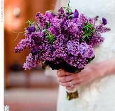 I want lilacs for my bouquet, growing up with dozens of bushes in our backyard it would be perfect...