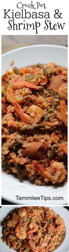 Crock Pot Kielbasa and Shrimp Stew