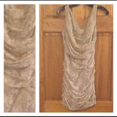 ‼️drop‼️EXPRESS DRESS- TAN/NUDE LACE Worn once! Express Dresses Mini