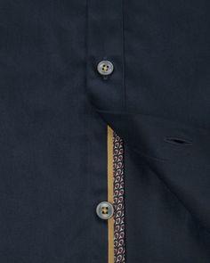 Satin stretch shirt - Navy | Shirts | Ted Baker UK