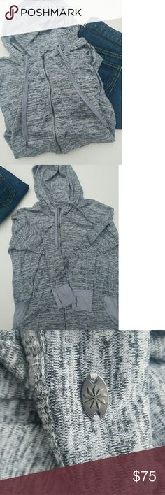 Athleta heather grey hoody size large Athleta heather grey hoody size large worn a few times has minor snag on show lace barely can notice in awesome condition Athleta Tops Sweatshirts & Hoodies