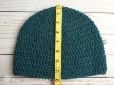 How to Size Crochet Hats + Master Beanie Pattern