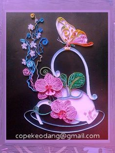 Beautiful quilling by Tuyet Lan from Vietnam.