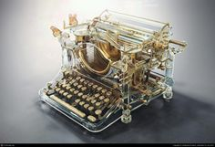 Funny pictures about Awesome Typewriter. Oh, and cool pics about Awesome Typewriter. Also, Awesome Typewriter photos. National Novel Writing Month, Antique Typewriter, Modern Typewriter, Vintage Typewriters, Le Far West, 3d Artist, Cool Stuff, Interesting Stuff, Fantasy Art