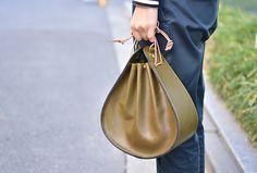 巾着鞄 / 巾着袋×革鞄 / 日本の伝統と現代的上品さ