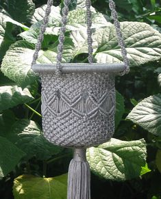 This plant hanger is made out of cloth using the macrame technique. I chose this example because it shows how an artistic design can be applied to both aesthetic and functional purposes.