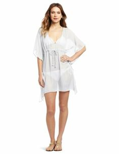5e7e2bf0161a4 Echo Design Women s Solid Butterfly Beach Cover Up with Braided Ties