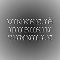 vinkkejä musiikin tunnille Primary Education, Music Education, Clarinet, Teaching Music, Preschool, Learning, Music Ed, Music Lessons, Kid Garden