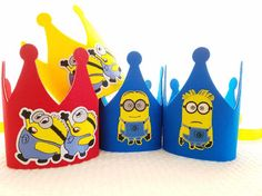 Minions Birthday Crown - Despicable Me Party Hats - Minion Party by iCROWNyou on Etsy Despicable Me Party, Minion Party, Hobbies To Take Up, Great Hobbies, I Party, Party Hats, Party Ideas, Hobby House, Hobby Shop