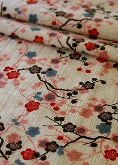 Japanese SAKURA Cotton broadcloth fabric.
