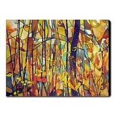 ręcznie malowany obraz olejny abstrakcyjny krajobraz – USD $ 59.99