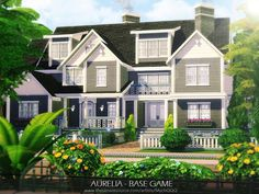 Lot: Found in TSR Category 'Sims 4 Residential Lots' Sims 4 House Plans, Sims 4 House Building, Home Building Design, Sims 4 Houses Layout, House Layouts, Sims 4 Family House, Sims 4 Kitchen, Ikea Kitchen, The Sims 4 Lots