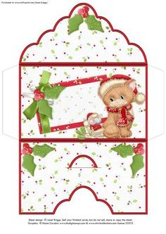 BLANK CHRISTMAS MONEY WALLET ENVELOPE Mistletoe Cat on Craftsuprint designed by Janet Briggs - Christmas money wallet or gift voucher holder, featuring cute kitten and mouse with mistletoe.Sentiment tag on the front is left blank for your own greeting.NOTE This is also available with a Merry Christmas, To and From tag on the front 384073_68 - Now available for download!